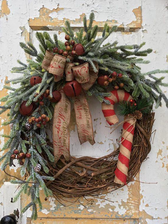 Christmas Wreath Ideas.Primitive Christmas Wreath Ideas On Stylevore