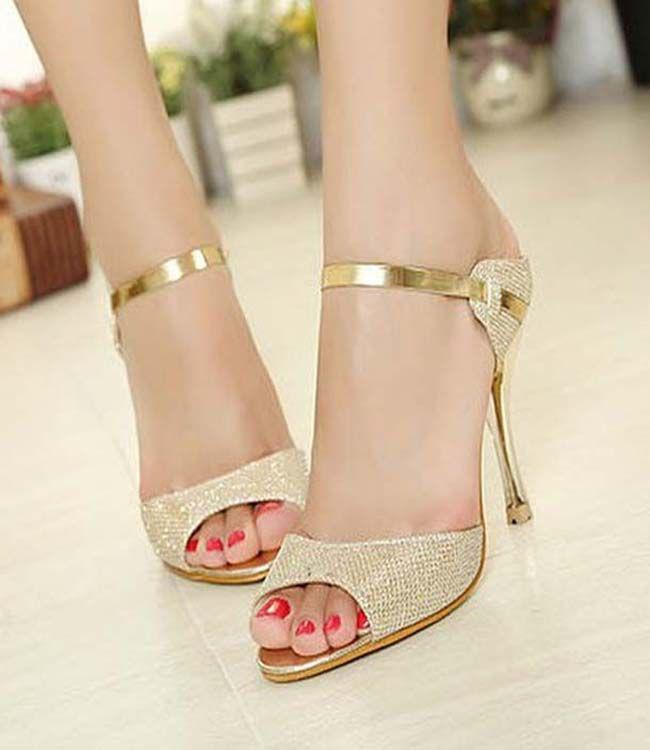 Peep-Toe High-Heel Sandals. Classy High Heel Shoes For Trendy Girls