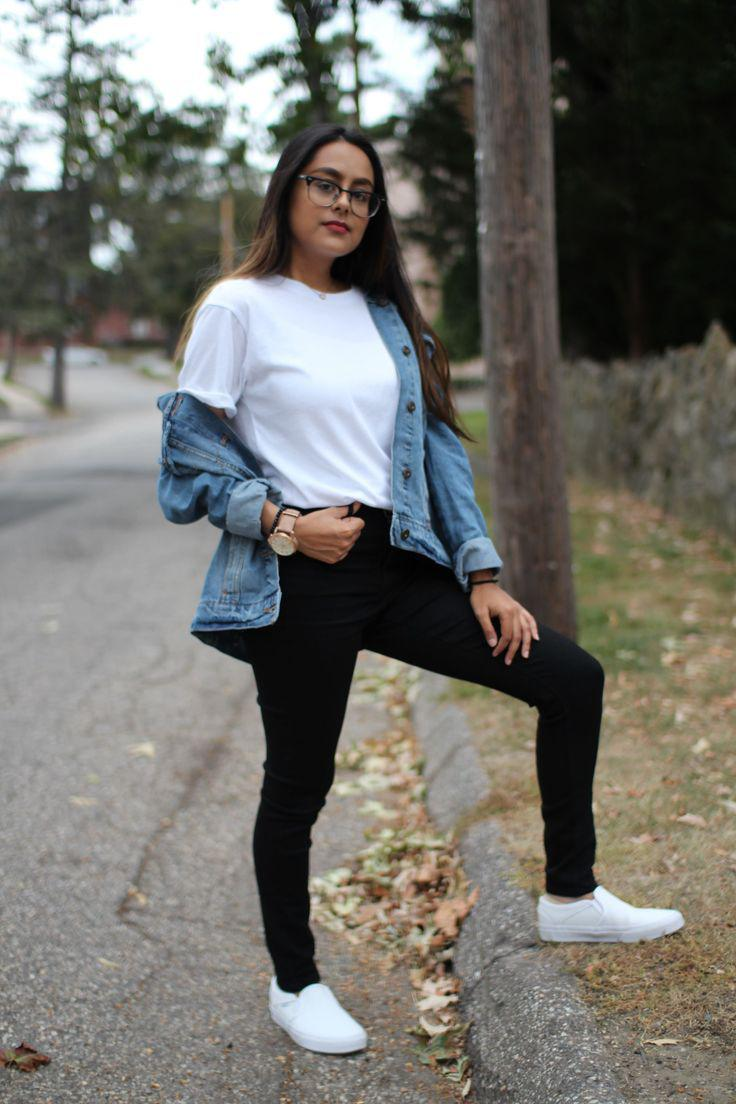 Vans Old Skool. Embroidered Jacket Outfit on Campus on Stylevore