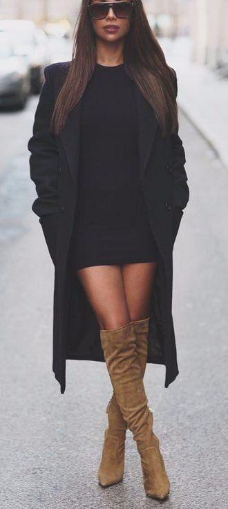 Fashion Inspiration Thigh highs boots outfit