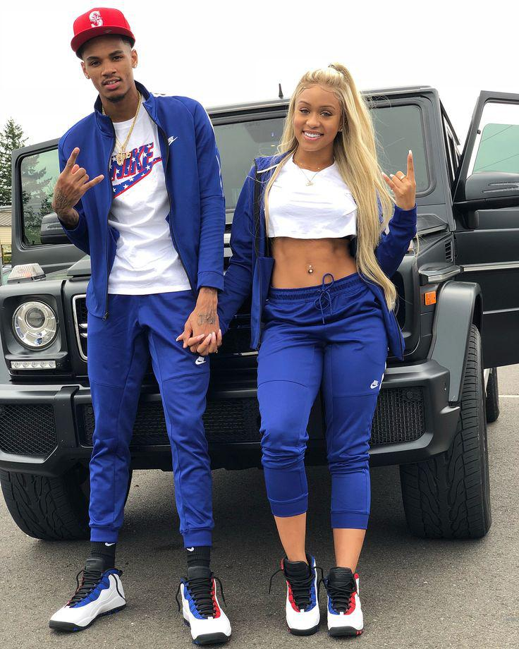 White & Blue Matching Clothes