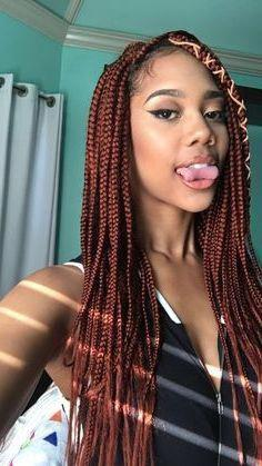 Black Girl Box braids, Long hair