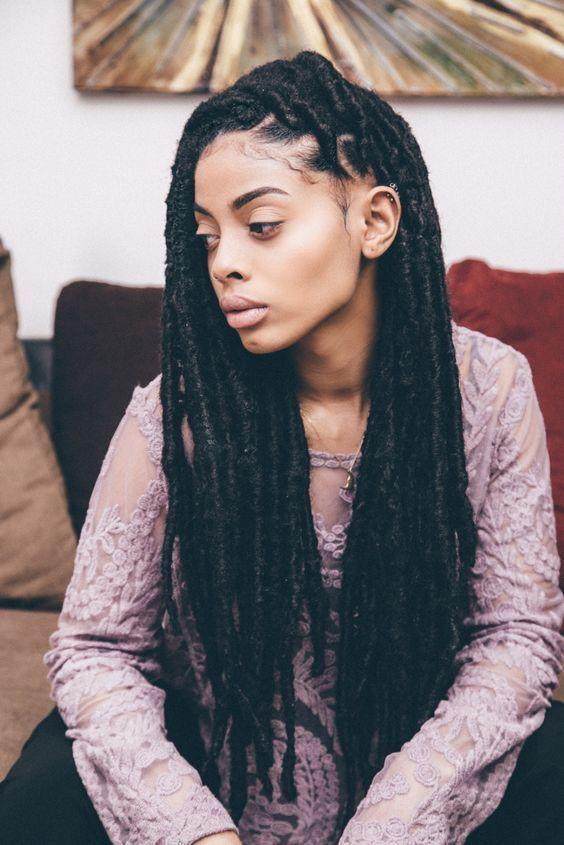 Black Girl Synthetic Dreads Box Braids On Stylevore