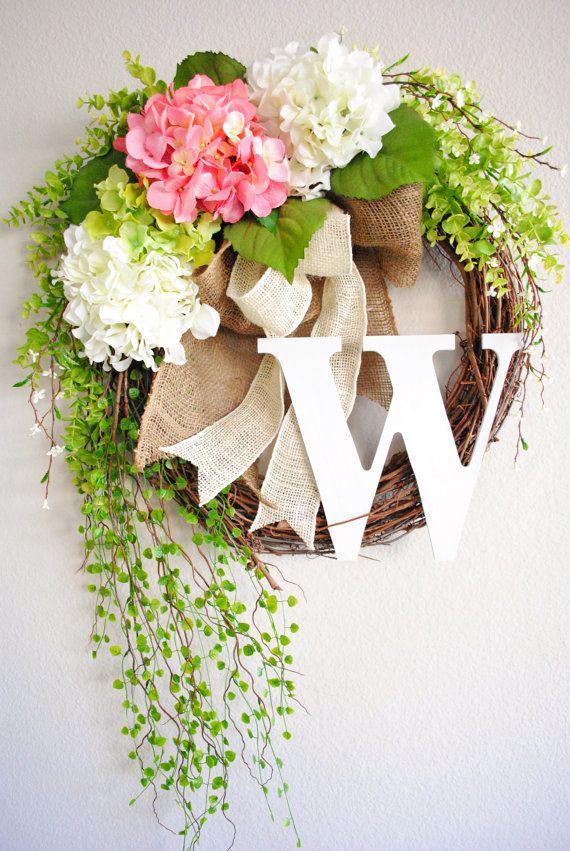 Grapevine wreath spring