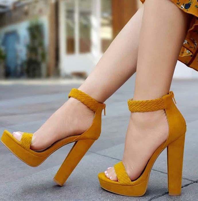 0a866228ad4 Footin Womens Fashion Heels – Black. Popular Ladies Comfort High ...