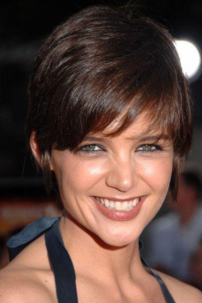 Pixie Haircut Katie Holmes, Short hair