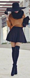 Winter style 2015 – Sexy mini skirt for a hot & chic casual style – Women fashi ...