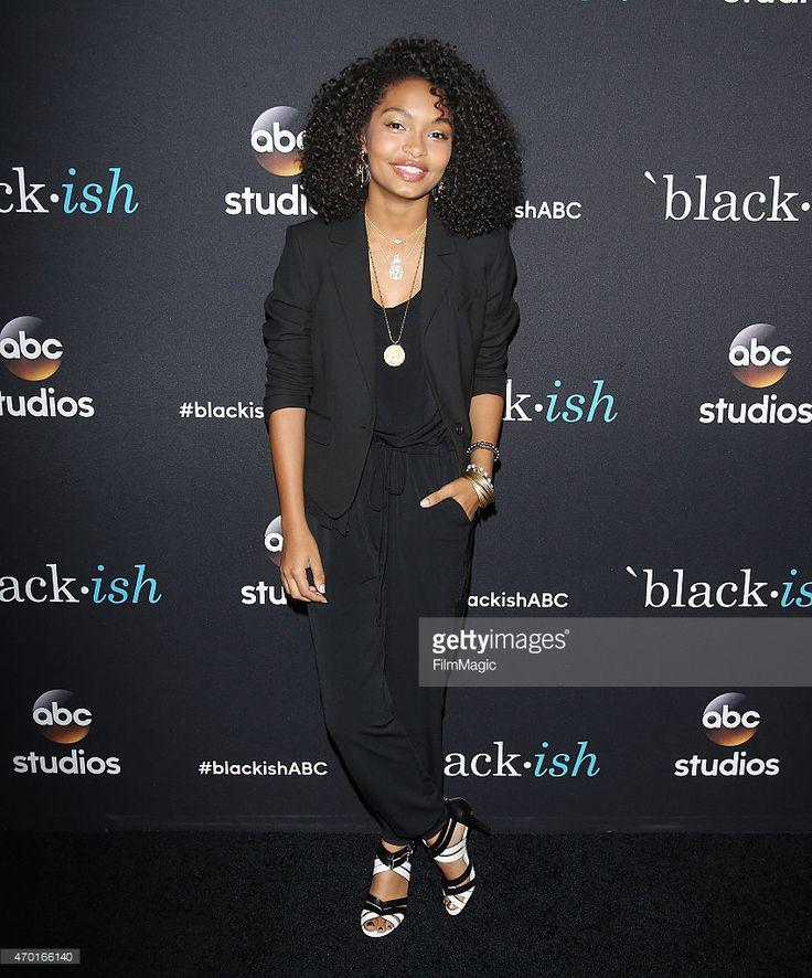 Yara Shahidi arrives at the 'Blackish' event held at Pacific Design… N…