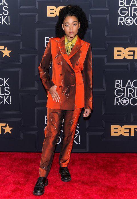 Red carpet fashion. amandla stenberg suit – Google Search