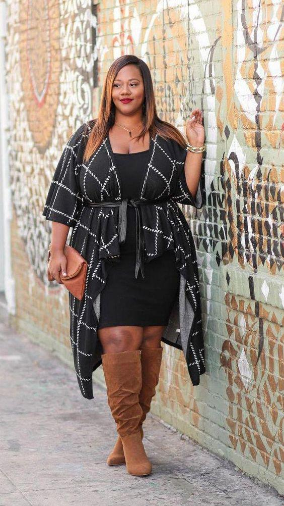 6721c018bc3 Little black dress. Birthday Outfits | Black Girl Plus-size clothing,  Formal wear