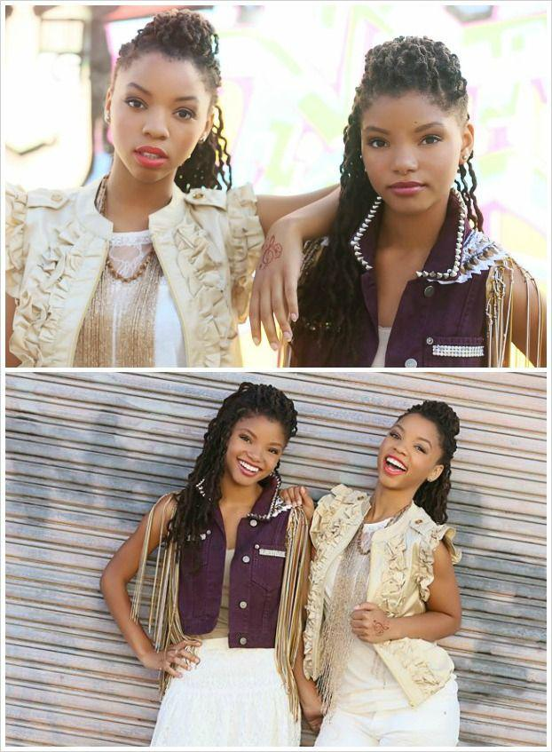 beauty sisters Chloe and Halle