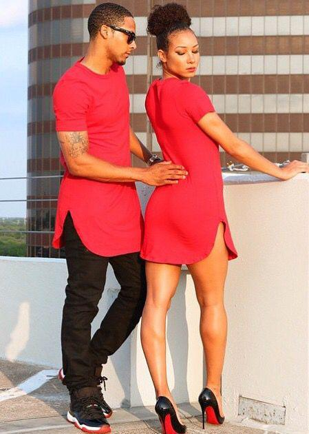 Black Love His Her Couple Relationship Matching Swag Jordan's Louboutin High Heel