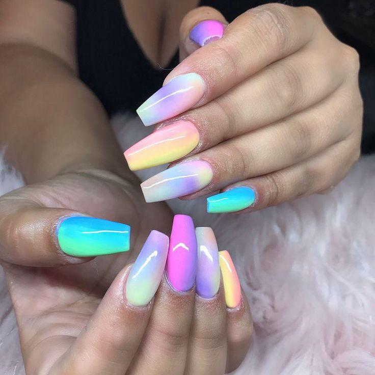 Black Girls Artificial nails Nail art on Stylevore