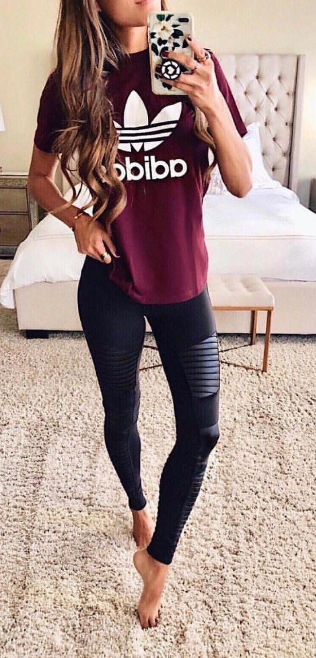 Cute Outfits With Black Leggings For Summer