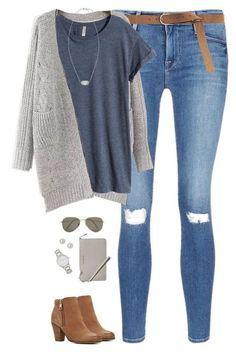 Polyvore Boyfriend Jeans Outfits For Teenage Girls.