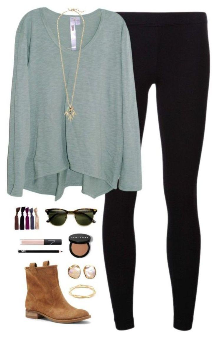 Cute Outfits To Wear With Black Leggings