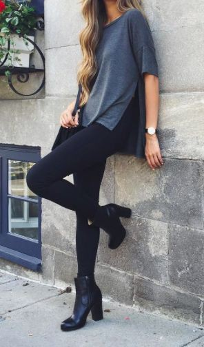 Casual Street fashion with leggings
