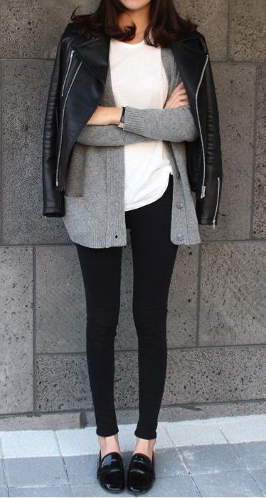 Patent leather flats leggings outfit