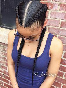 Braided black girls hairstyles