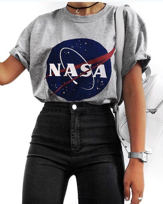 NASA Graphic Tee, Urban Crop top
