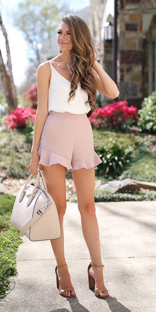 High-heeled shoe, Casual wear – shorts, clothing, fashion, dress