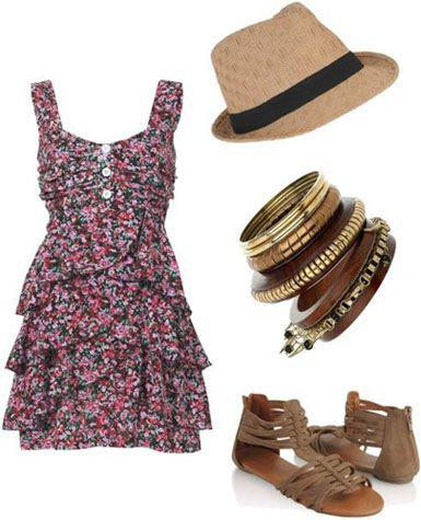 Outfits For Summer Vacation, Floral Dress