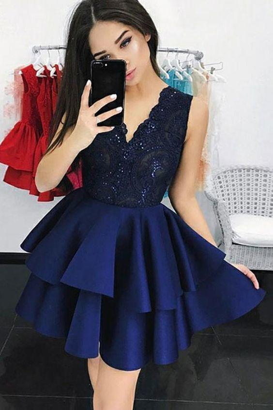 63ba59e203e3 BLUE PROM DRESS, Party Outfit Formal wear, Evening gown on Stylevore