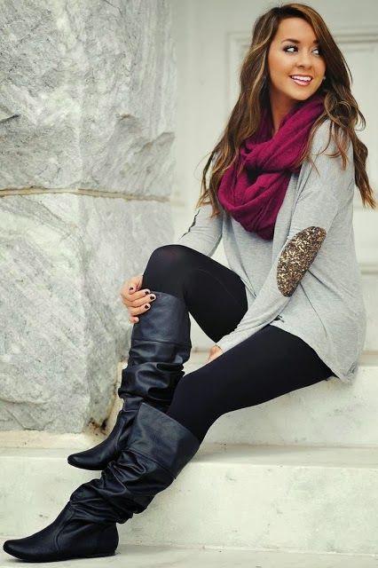 Black Leggings Outfit Spring