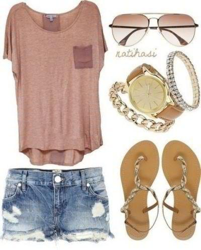 Summer Outfit Ideas, Polyvore Summer Clothing Accessories, Casual wear