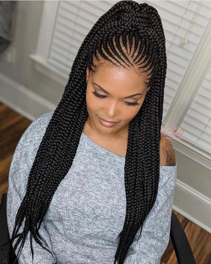 Black Girl Box braids, Afro,textured hair on Stylevore