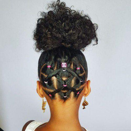 Black Girl Afro Textured Hair Perm Rods On Stylevore