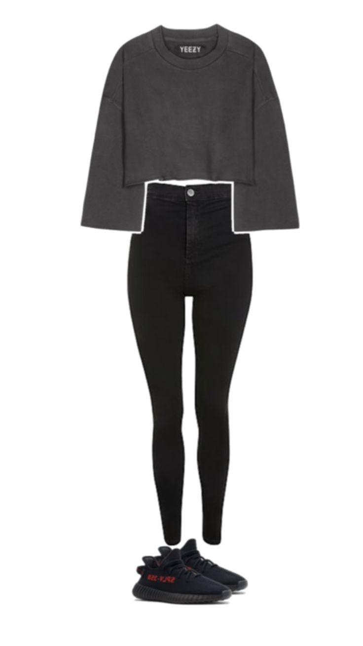 Fall Outfit Black M – leggings, tights, waist, sleeve