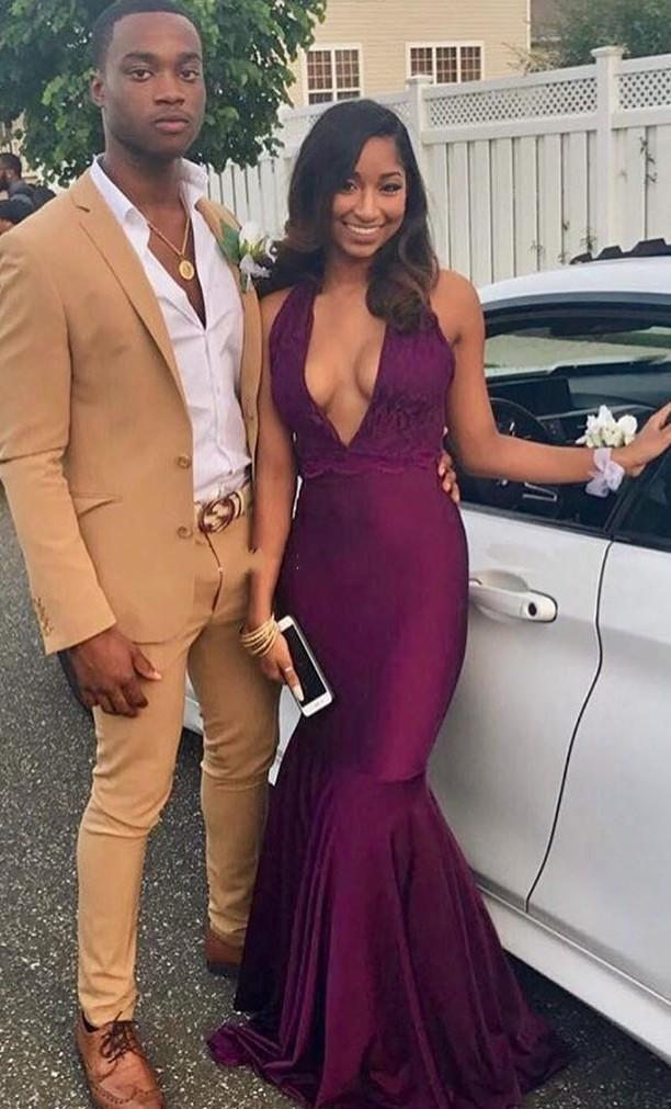 Burgundy Prom Dress, Evening gown, Formal wear