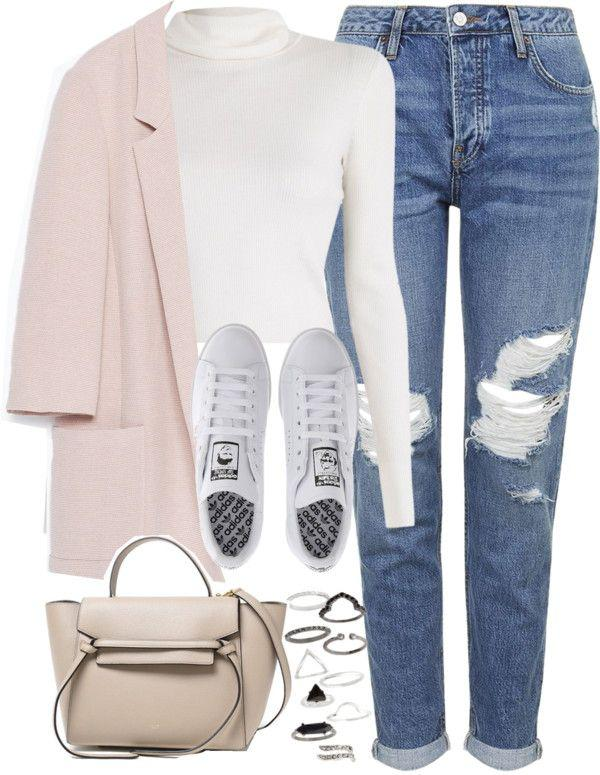 Fall Outfit Polo neck, Casual wear
