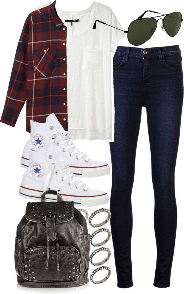 Wear with Converse, Baddie Casual wear, School Outfits