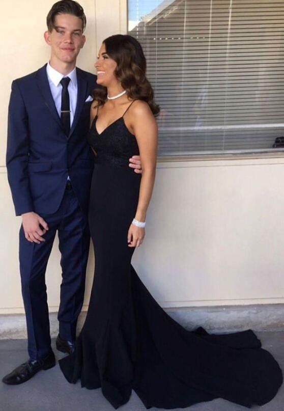 cfebc1b9a6c6 Black Dress Prom Couple – Little Black Dress | Black Lace Bridesmaid ...