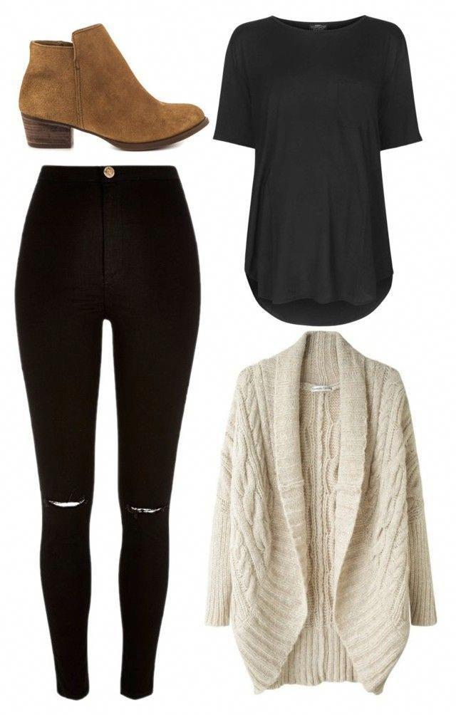 Winter Outfits With Black Leggings