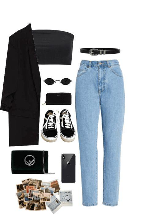 Fall Outfit Mom jeans, Lapel pin