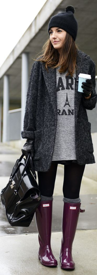 Cute Winter Outfits With Black Leggings