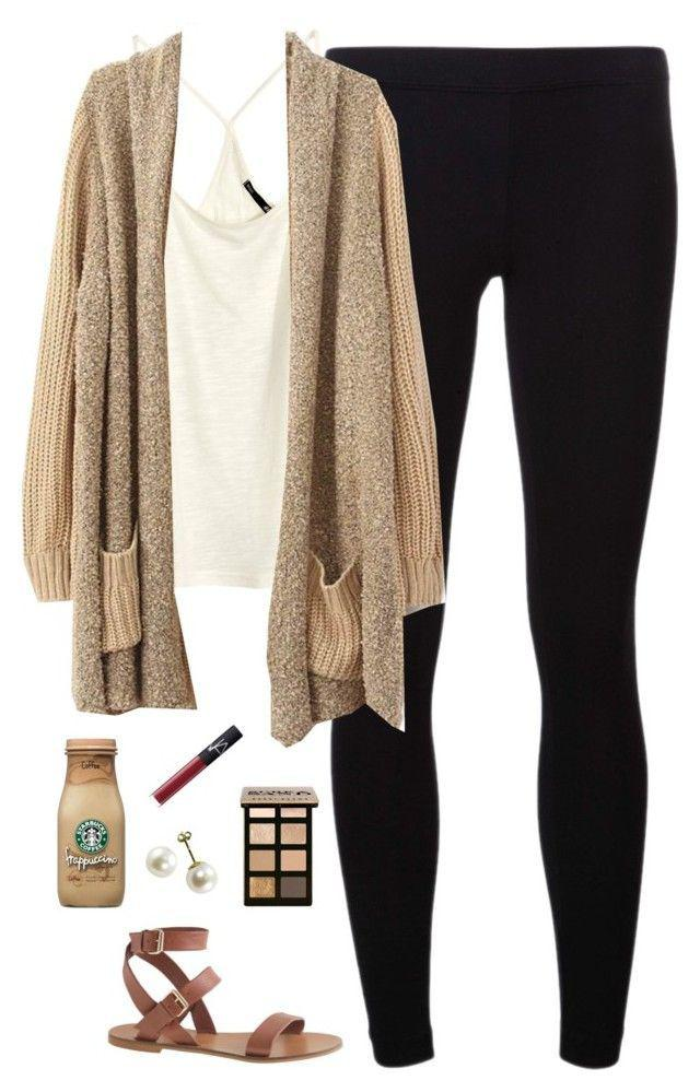 College Outfit ideas, Leggings Outfits Casual