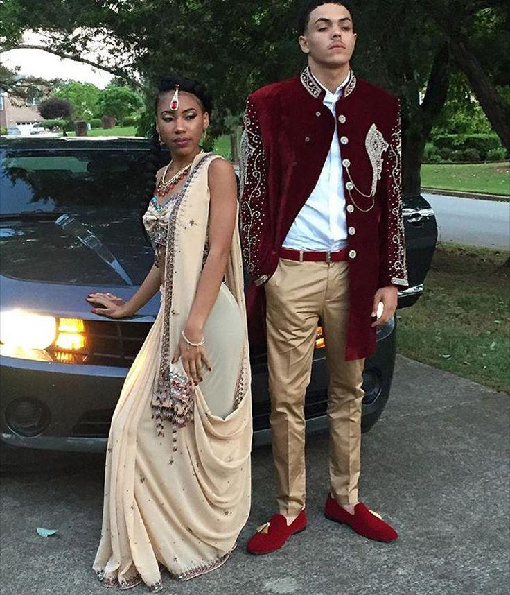 3779aa74b4e Homecoming Outfits With Saree For Black Couple on Stylevore