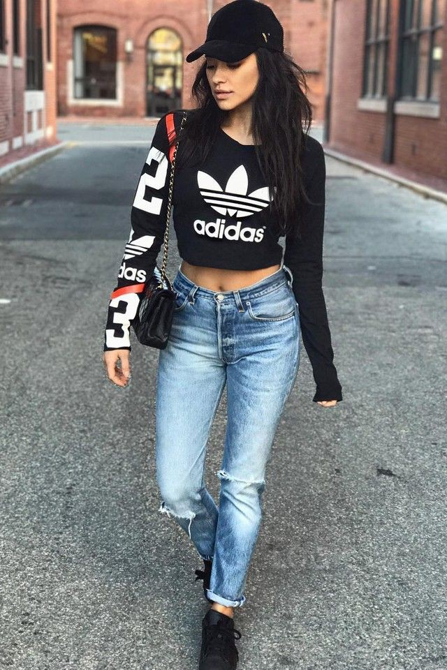 adidas superstar with jeans donna