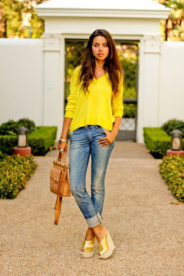 Yellow Shirt Outfit Women