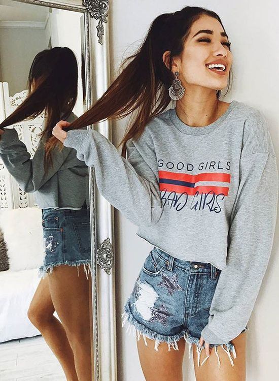 Hoodies fashion girl, sweatshirts outfits casual