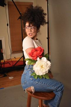 Flower bouquet, Floral design, Afro-textured hair