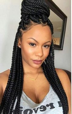 Box braids, Box braids, French braid