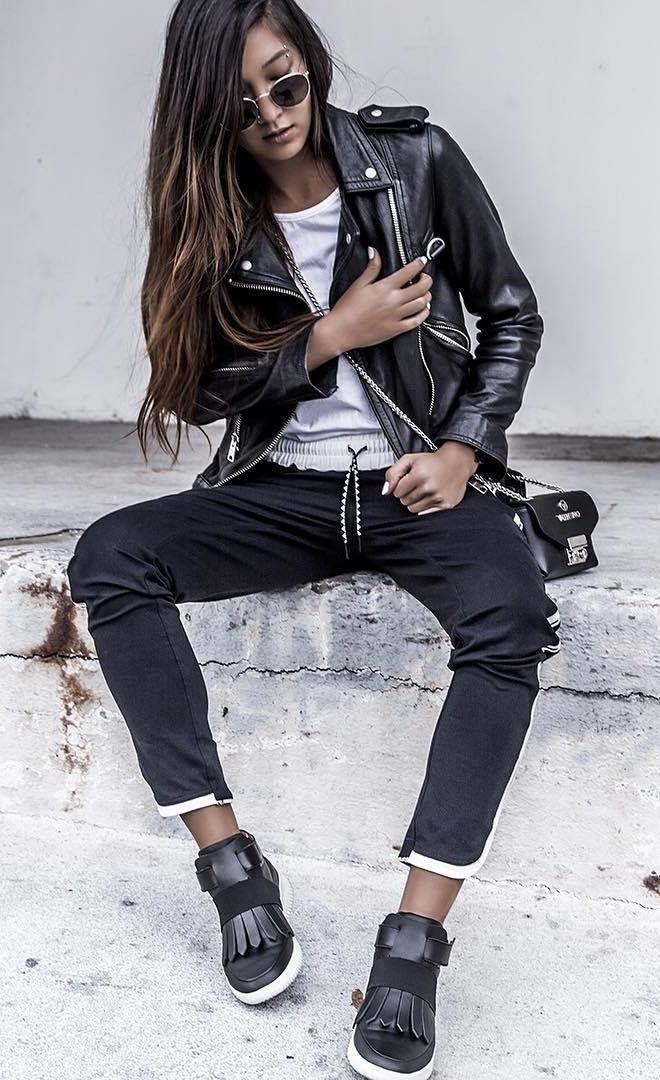 Leather jacket,  Street fashion