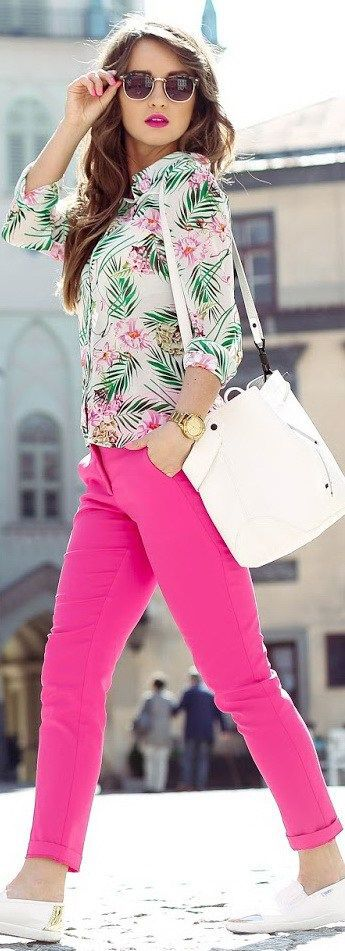 Best pink jeans outfit for girls