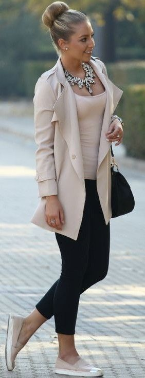 Outfits with beige blazer