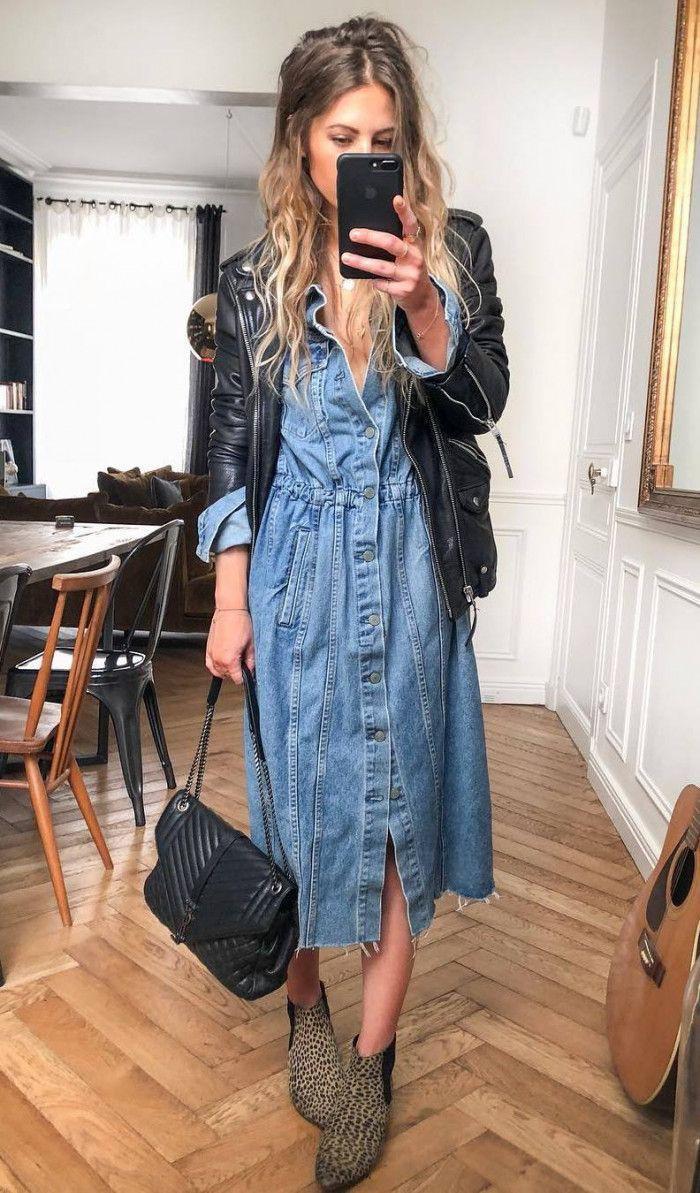 Denim skirt,  Jean jacket